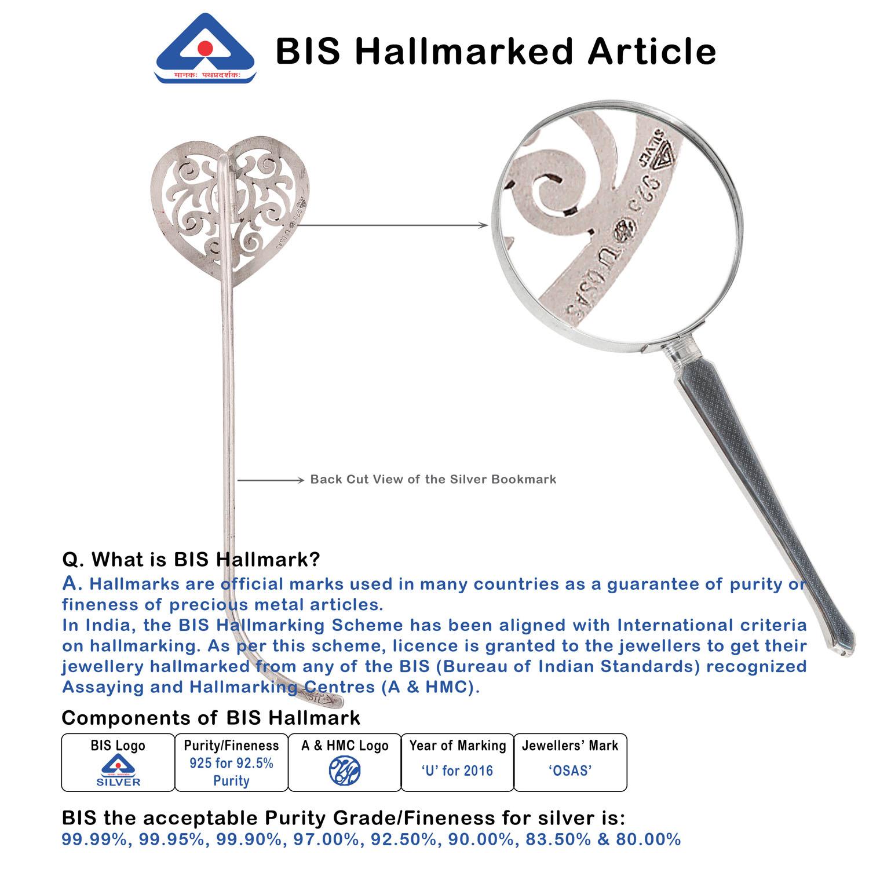 Sterling Silver Bookmark Bis Hallmark Osasbazaar