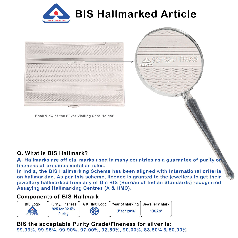Sterling Silver Card Holder BIS Hallmark