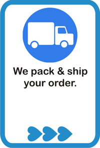 We pack & ship your order.