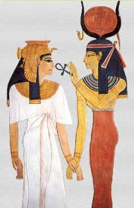 Ankh Goddess Hathor and Nefertari