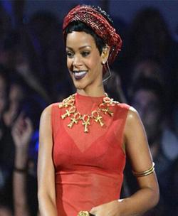 Rihanna and Ankh Necklace