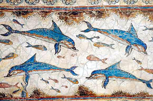 Dophin Fresco 1600BC Greece