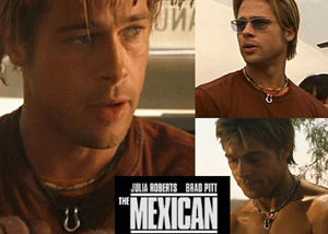 Actor Brad Pitt wearing Horseshoe in a Movie