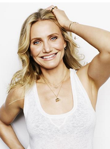 Actress Cameron Diaz sporting an Elephant Charm