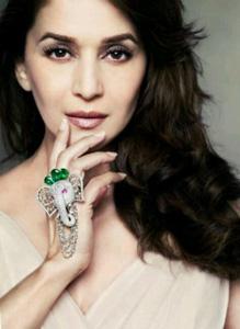Actress Madhuri Dixit with a beautiful Elephant Ring