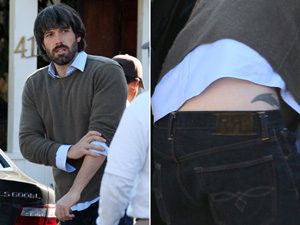 Actor Ben Affleck with a Dolphin Tattoo