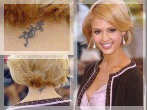 Jessica Alba with a Ladybug Tattoo