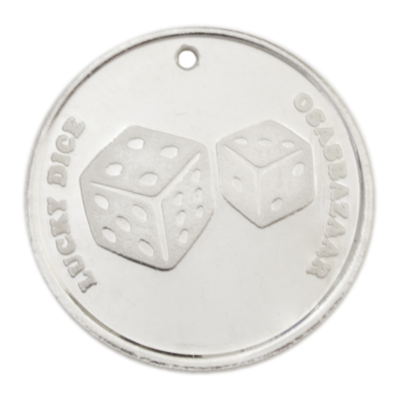 Silver Lucky 7 Dice Coin for Good Luck in Lottery, Games of Chance & Risks of Life!