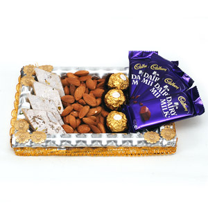 Chocolates and Indian Sweets Gift Basket