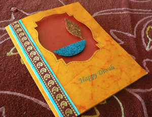 Handmade Diwali Greeting Card