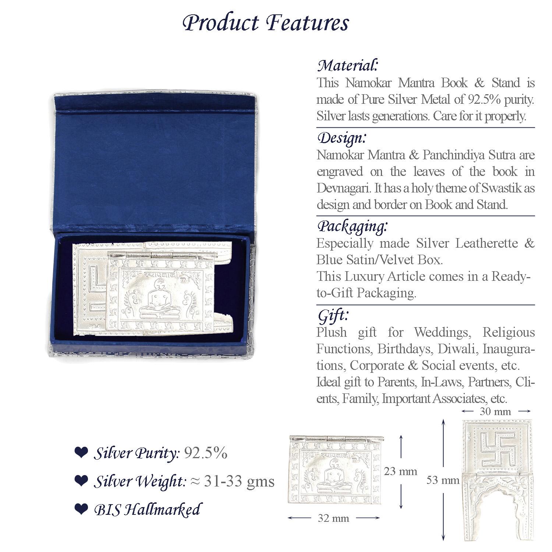 Namokar Mantra Silver Features