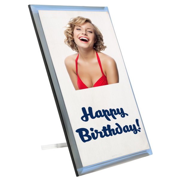 Silver Plaque Greeting Card Placard All Sizes