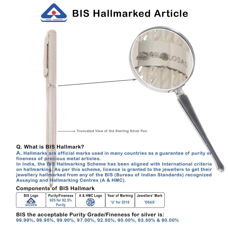 Sterling Silver Ballpoint Pen BIS Hallmarked