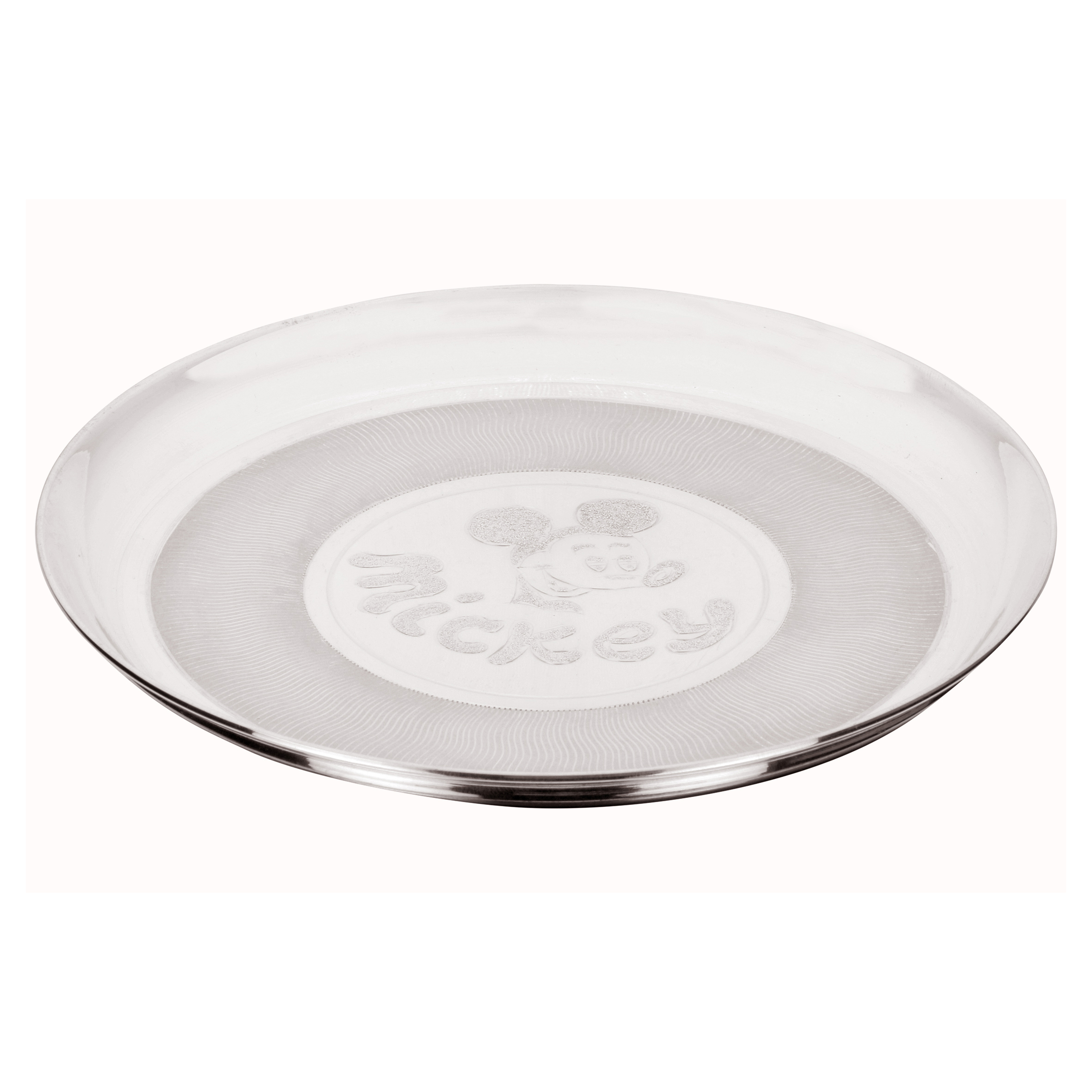 Osasbazaar Sterling Silver Baby Plate - Mickey Mouse Design - Main