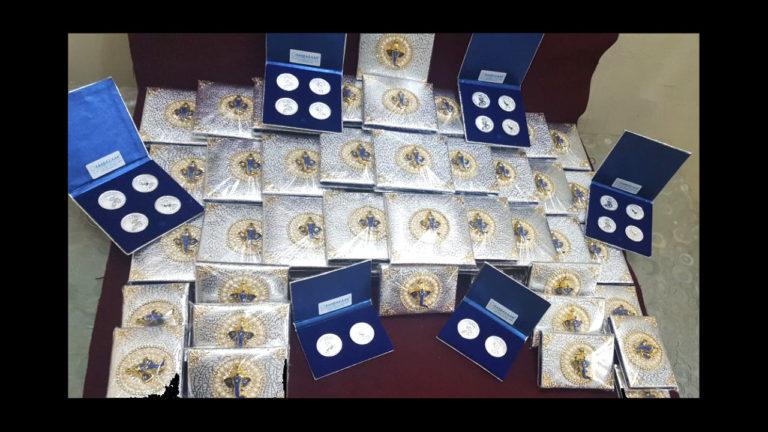 Silver Coins Wedding Gift by Osasbazaar