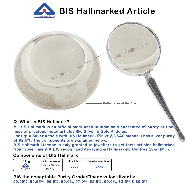 Bowl Baby 50 ml in Silver by Osasbazaar BIS Hallmark