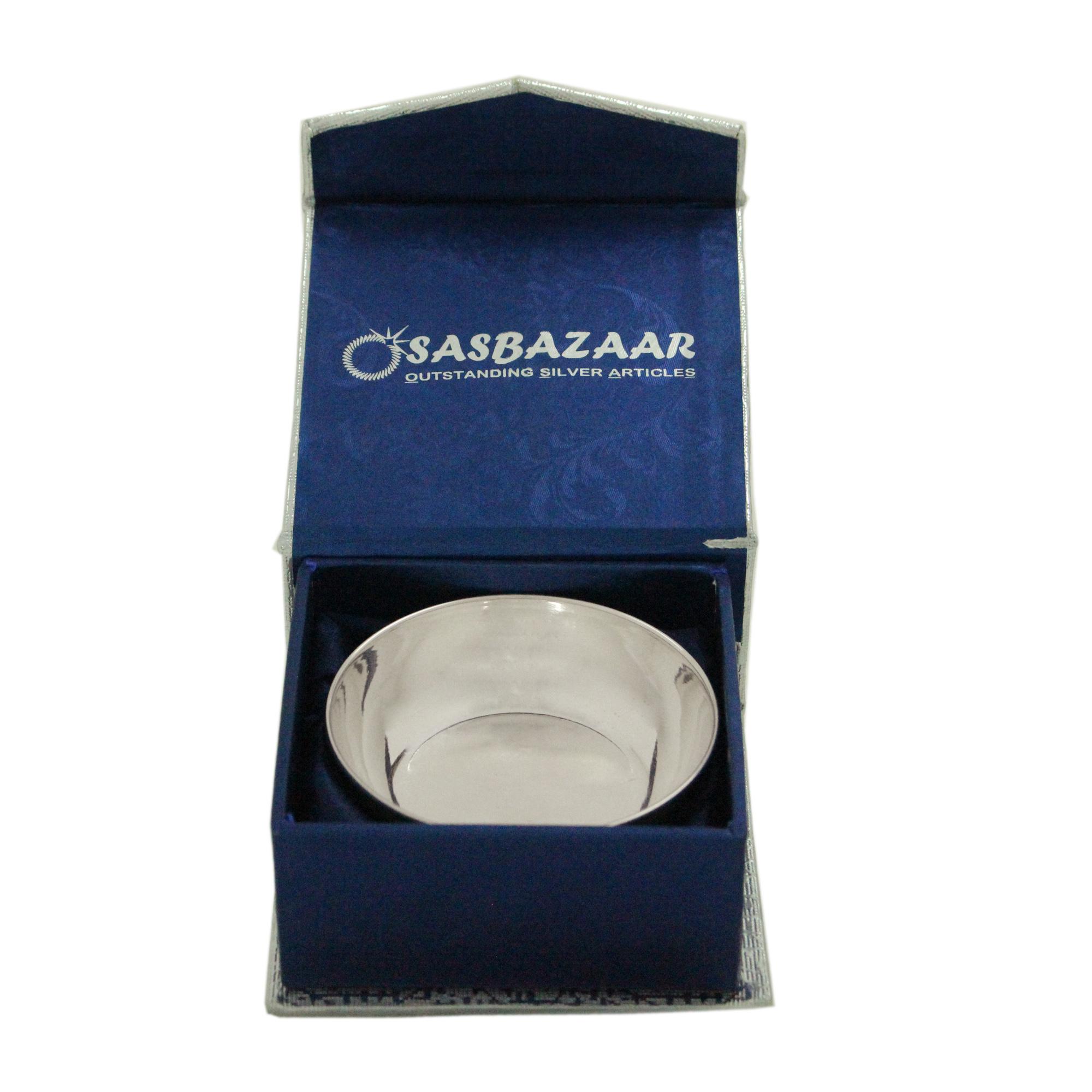 Bowl Baby 50 ml in Silver by Osasbazaar Packaging