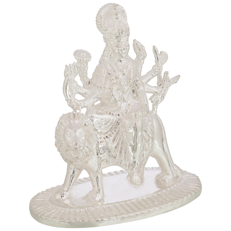 Durga Maa in Silver by Osasbazaar Right
