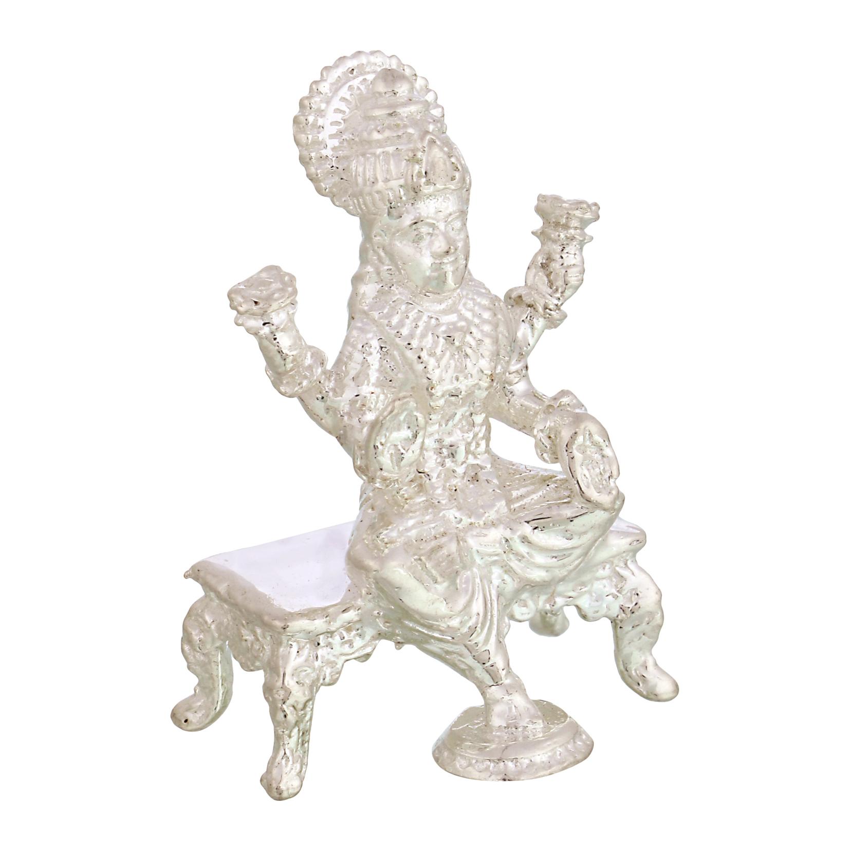 Laxmi ji in Silver by Osasbazaar Left