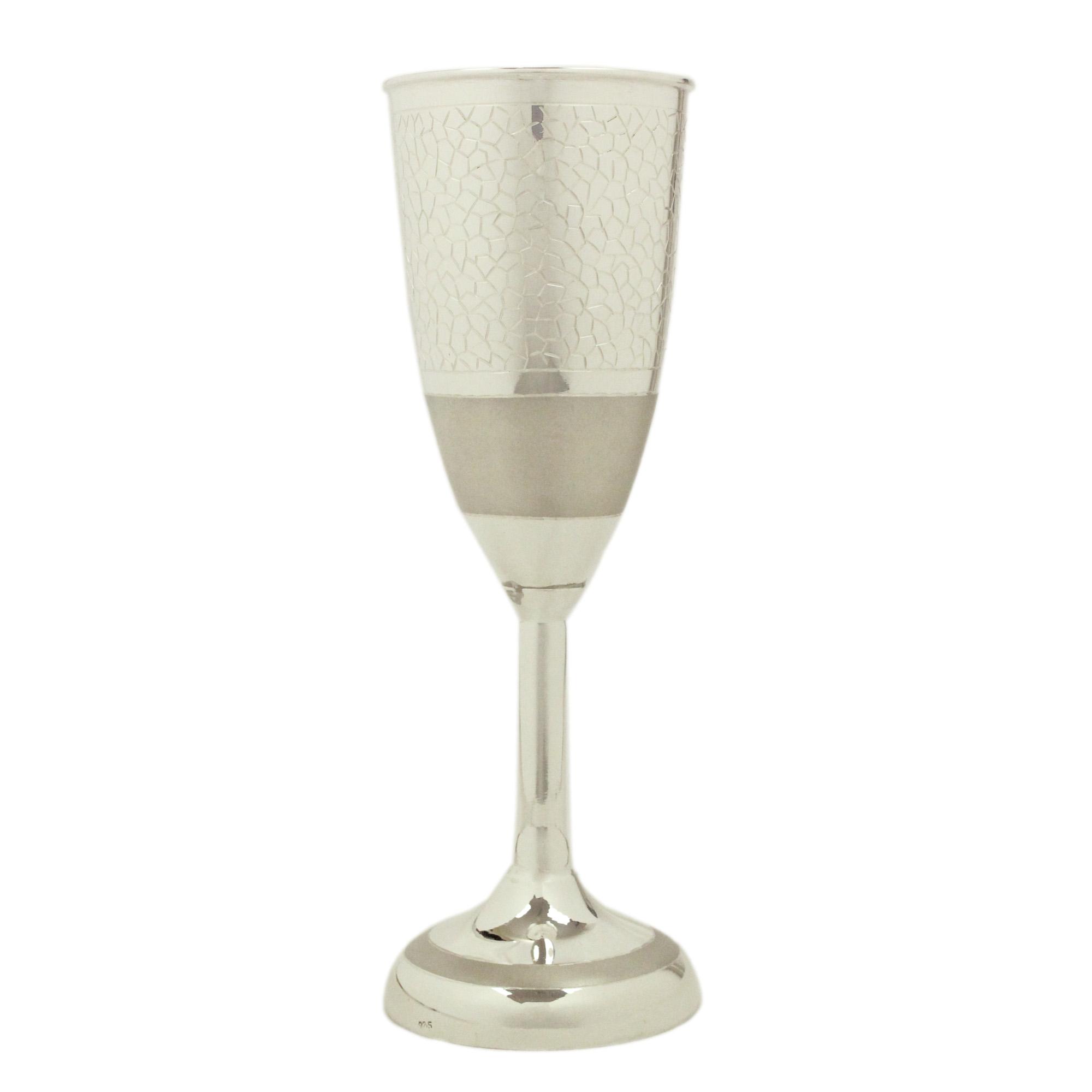 Wine Glass in Silver by Osasbazaar Main