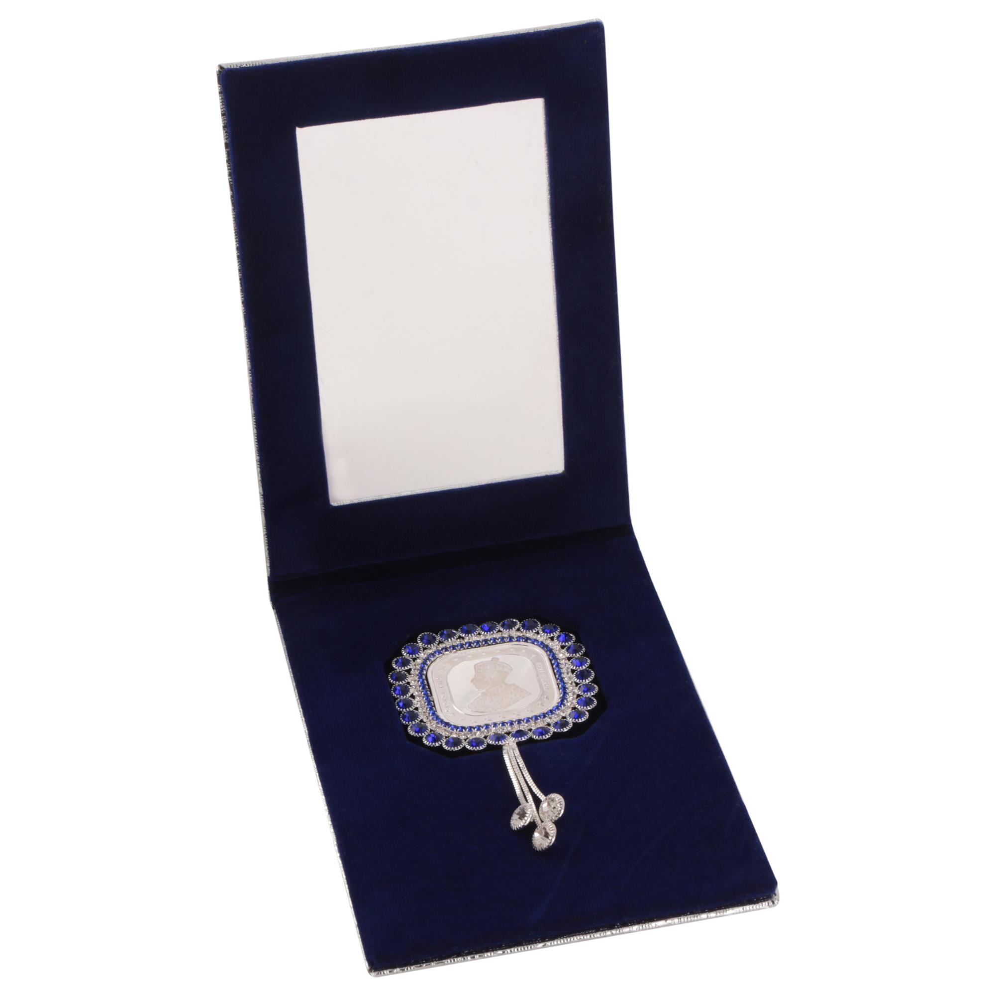 Silver Coin 10gm x1 in Blue Diamond Latkan Packing by Osasbazaar Open