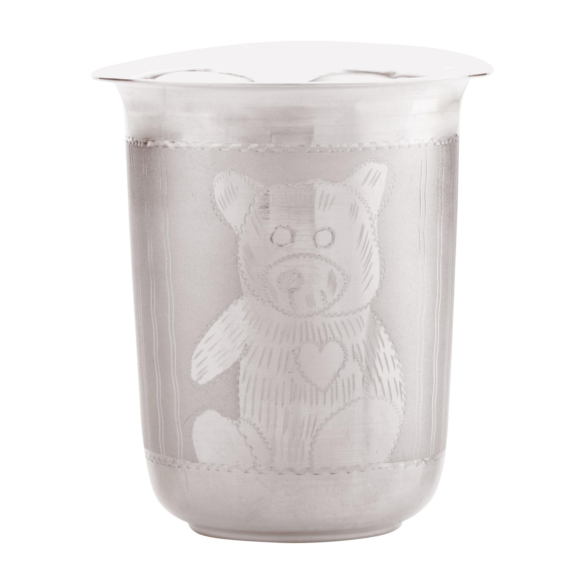 Glass Baby Teddy in Silver by Osasbazaar Main