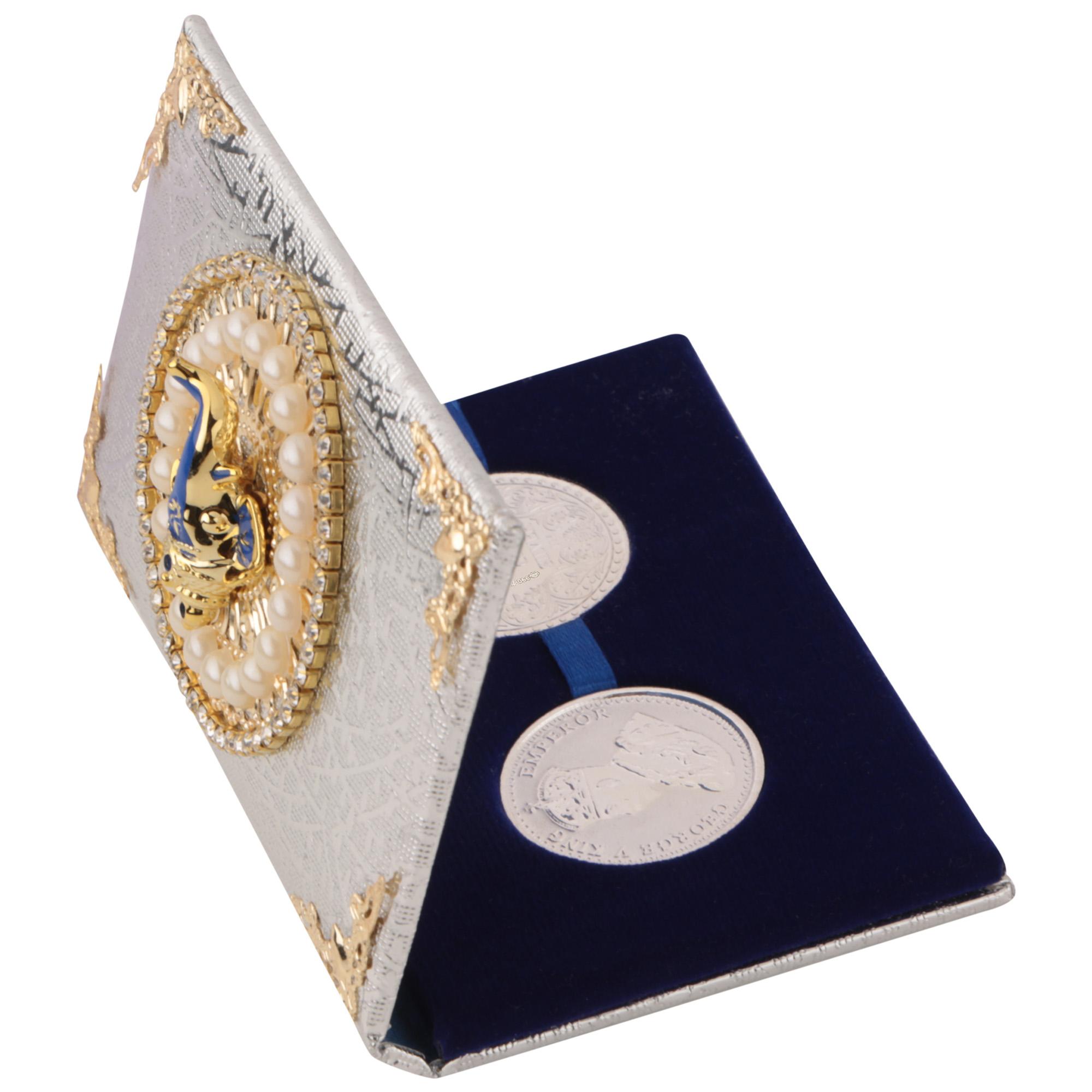 Silver Coin 10gm x2 in Ganesh ji Moti Packing by Osasbazaar Open