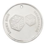 Lucky Dice Silver Coin