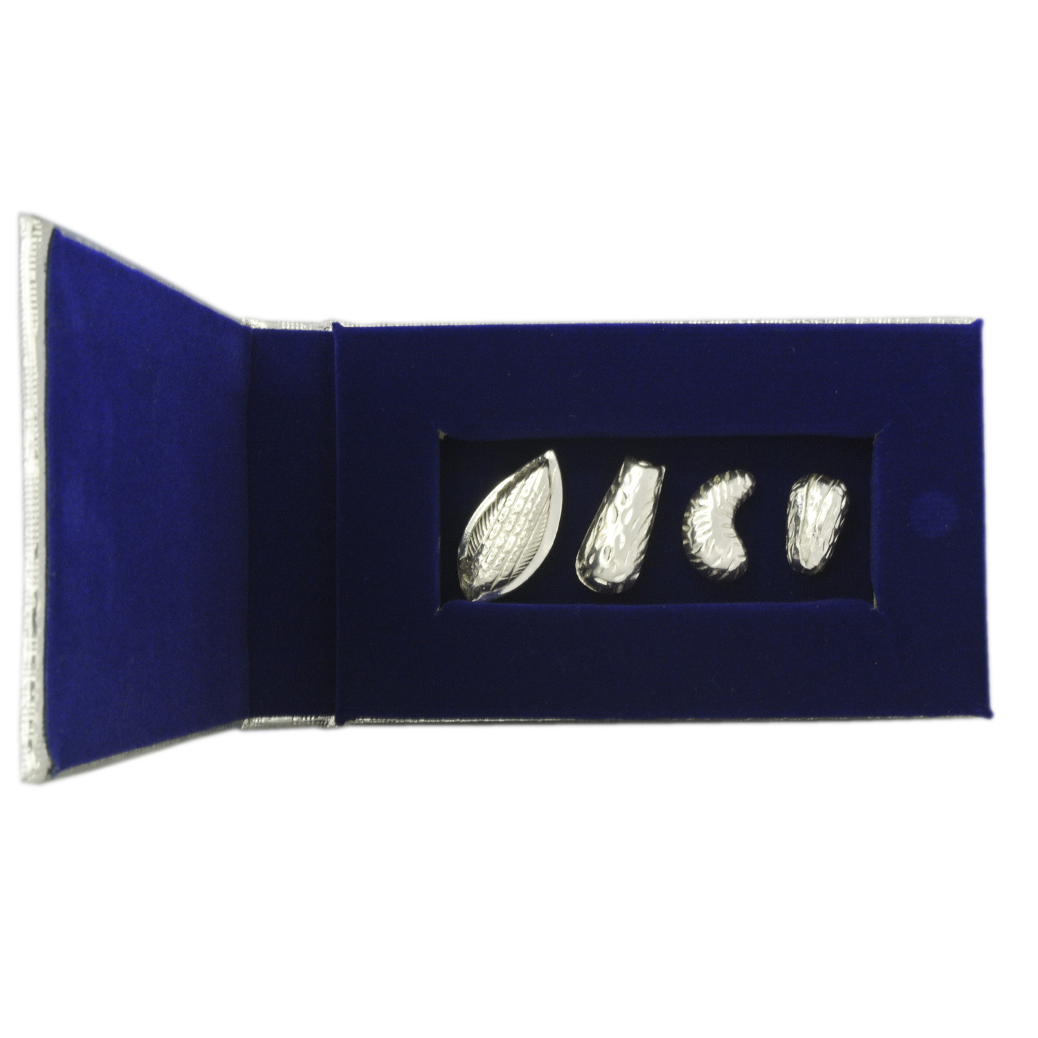 Silver Dry Fruits in a Velvet Box
