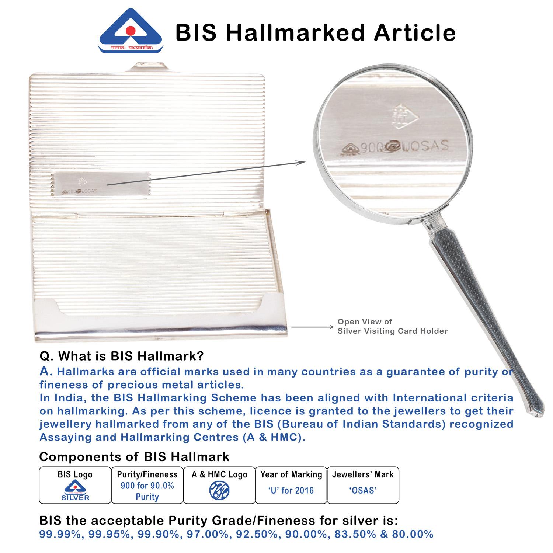 Silver Business Card Holder BIS Hallmark