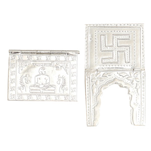 Sterling Silver Namokar Mantra Book and Stand Thumbnail