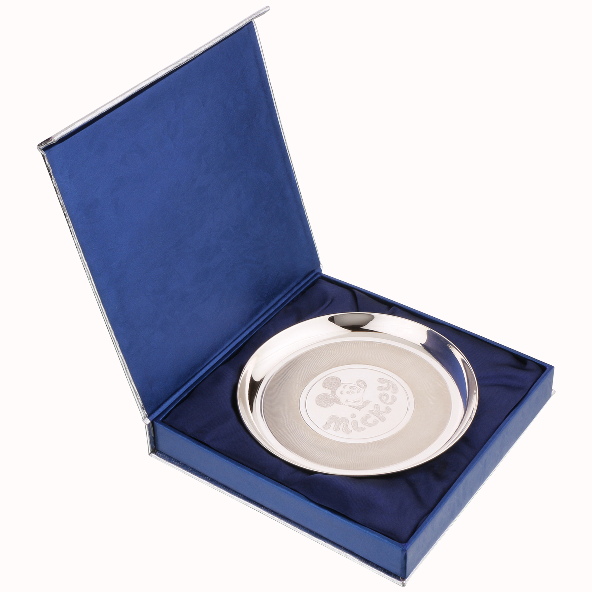 Osasbazaar Sterling Silver Baby Plate - Mickey Mouse Design - Packaging