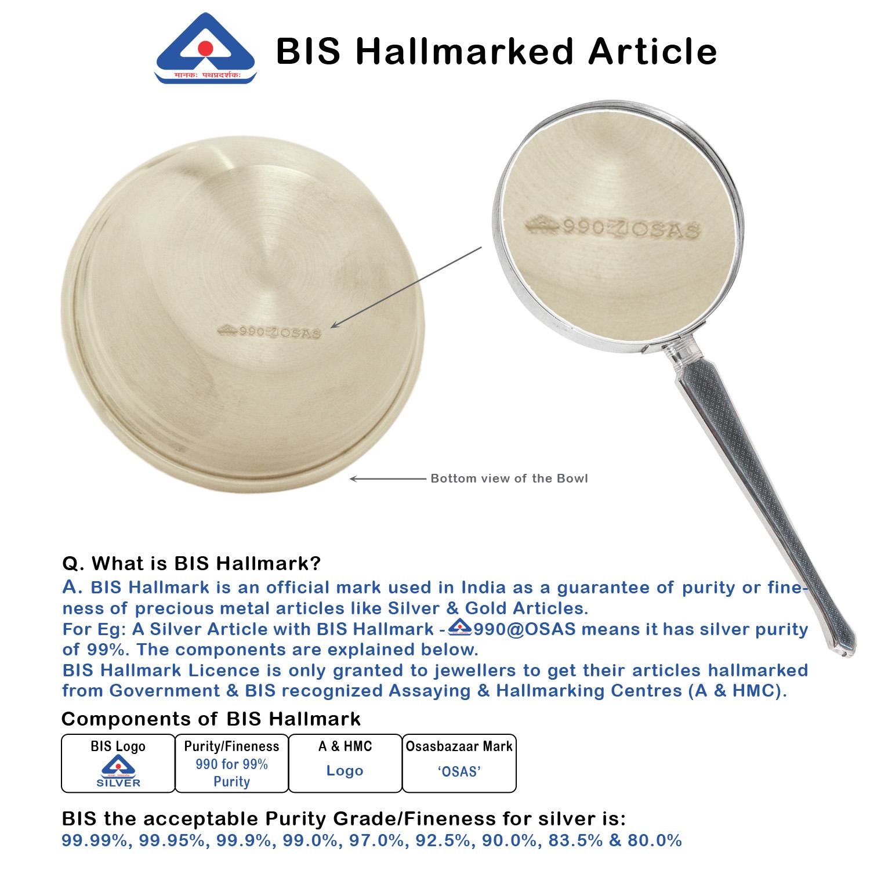 Bowl 50ml in Silver by Osasbazaar BIS Hallmark