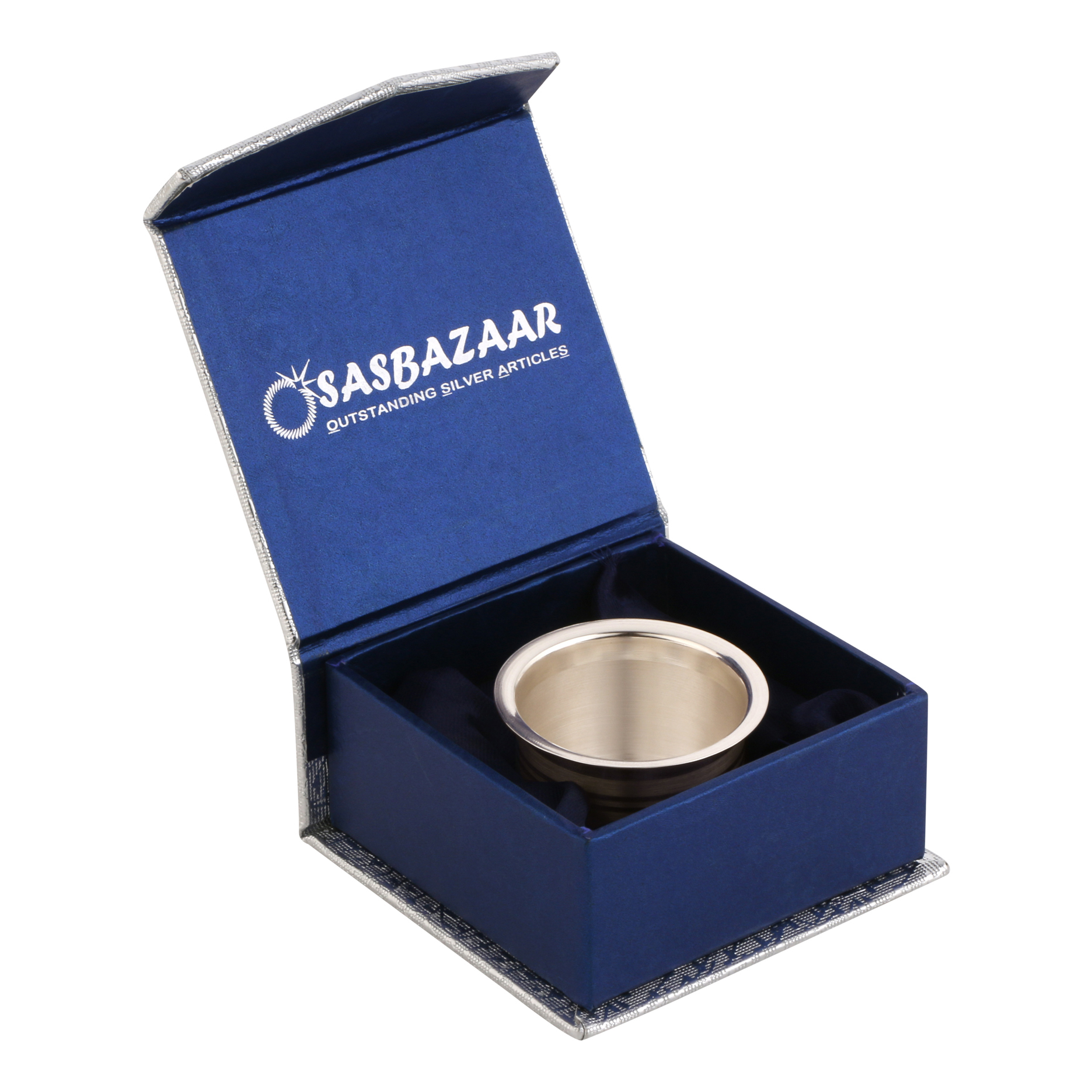 Glass PhoolPatra in Silver by Osasbazaar Packaging