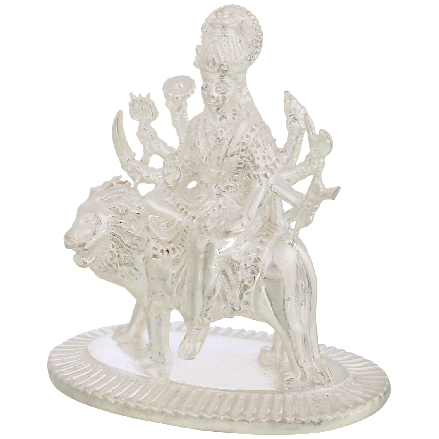 Durga Maa in Silver by Osasbazaar Left