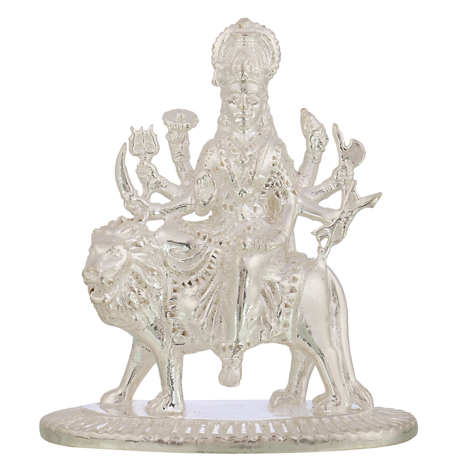 Durga Maa in Silver by Osasbazaar Main