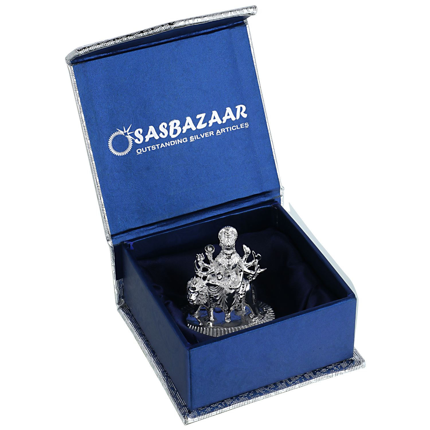 Durga Maa in Silver by Osasbazaar Packaging