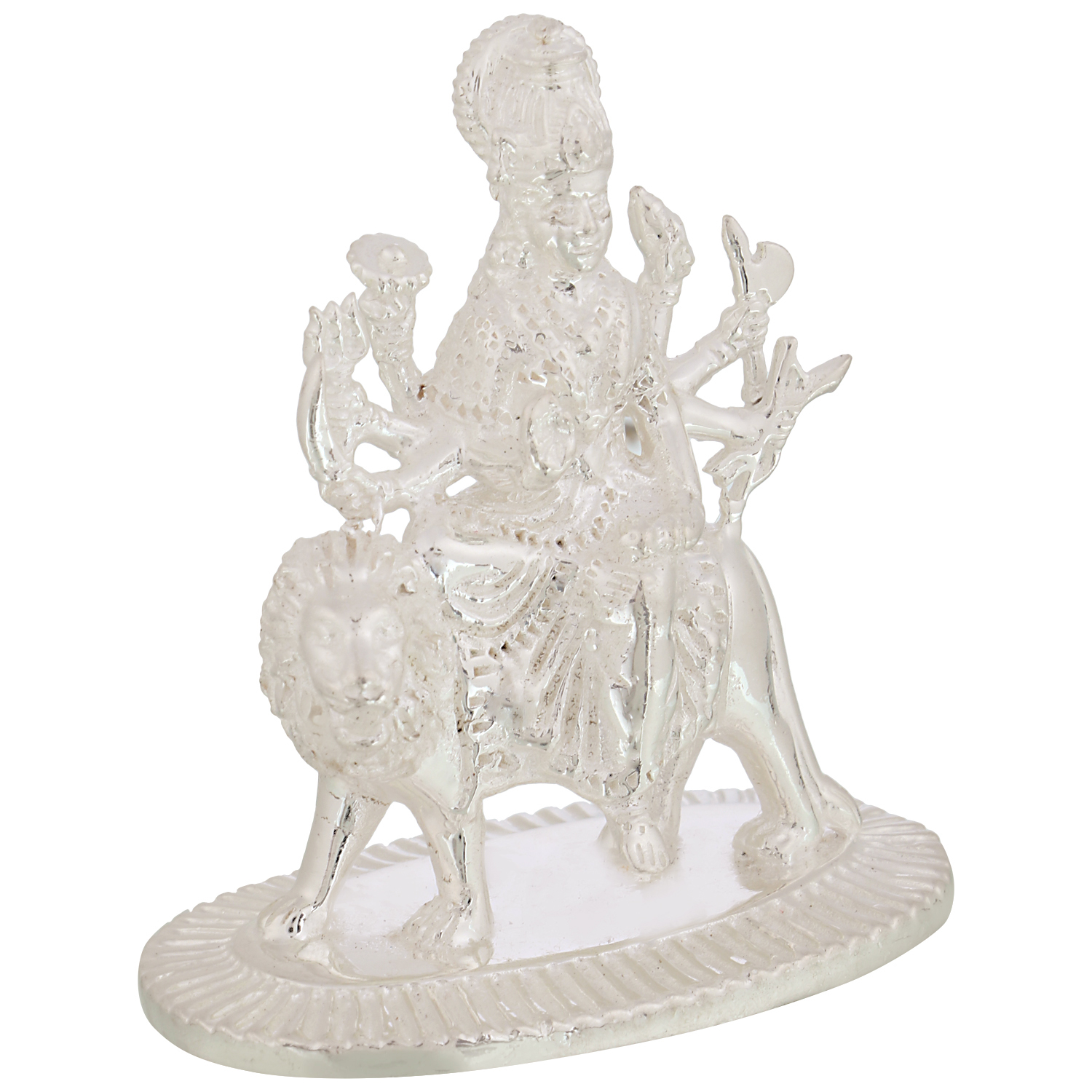 Durga Maa in Silver by Osasbazaar Right