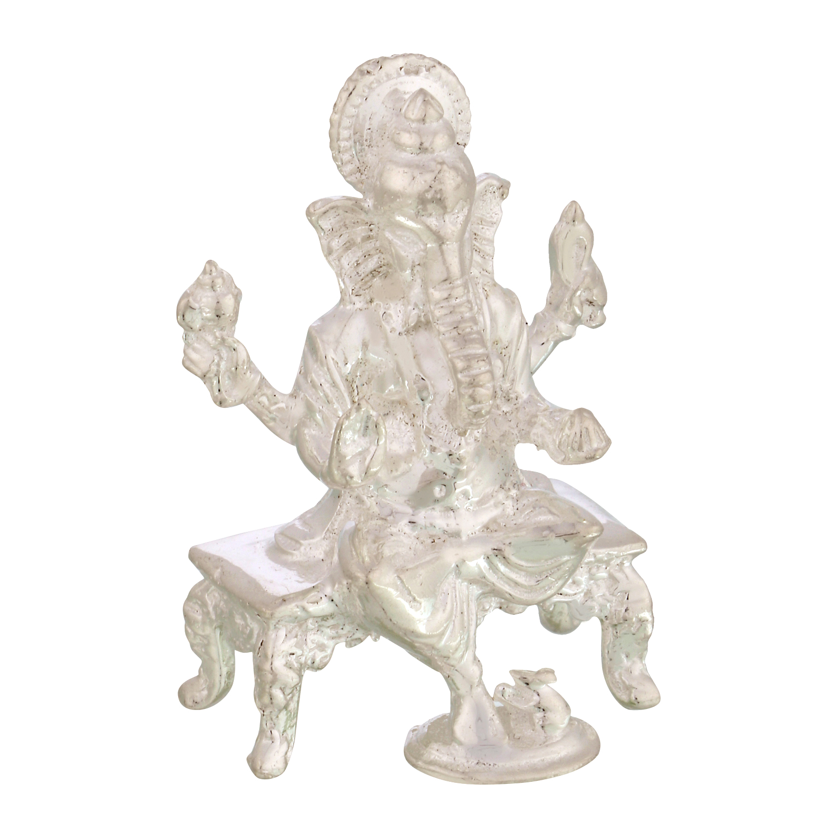 Ganesh ji in Silver by Osasbazaar Left