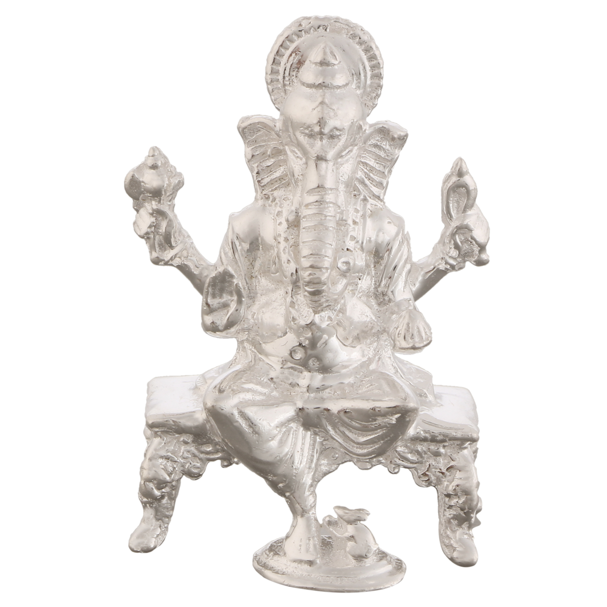 Ganesh ji in Silver by Osasbazaar Main