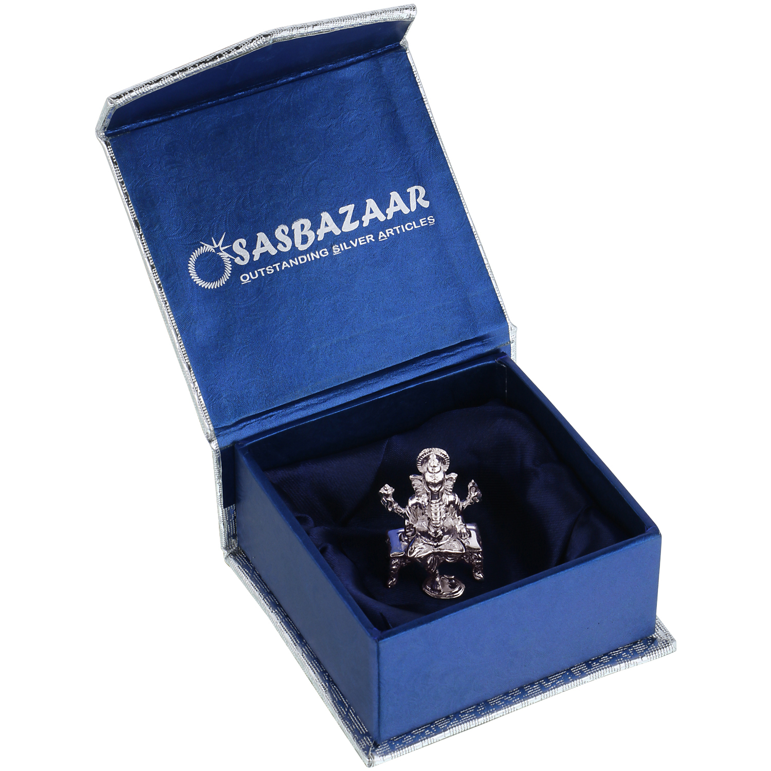 Ganesh ji in Silver by Osasbazaar Packaging