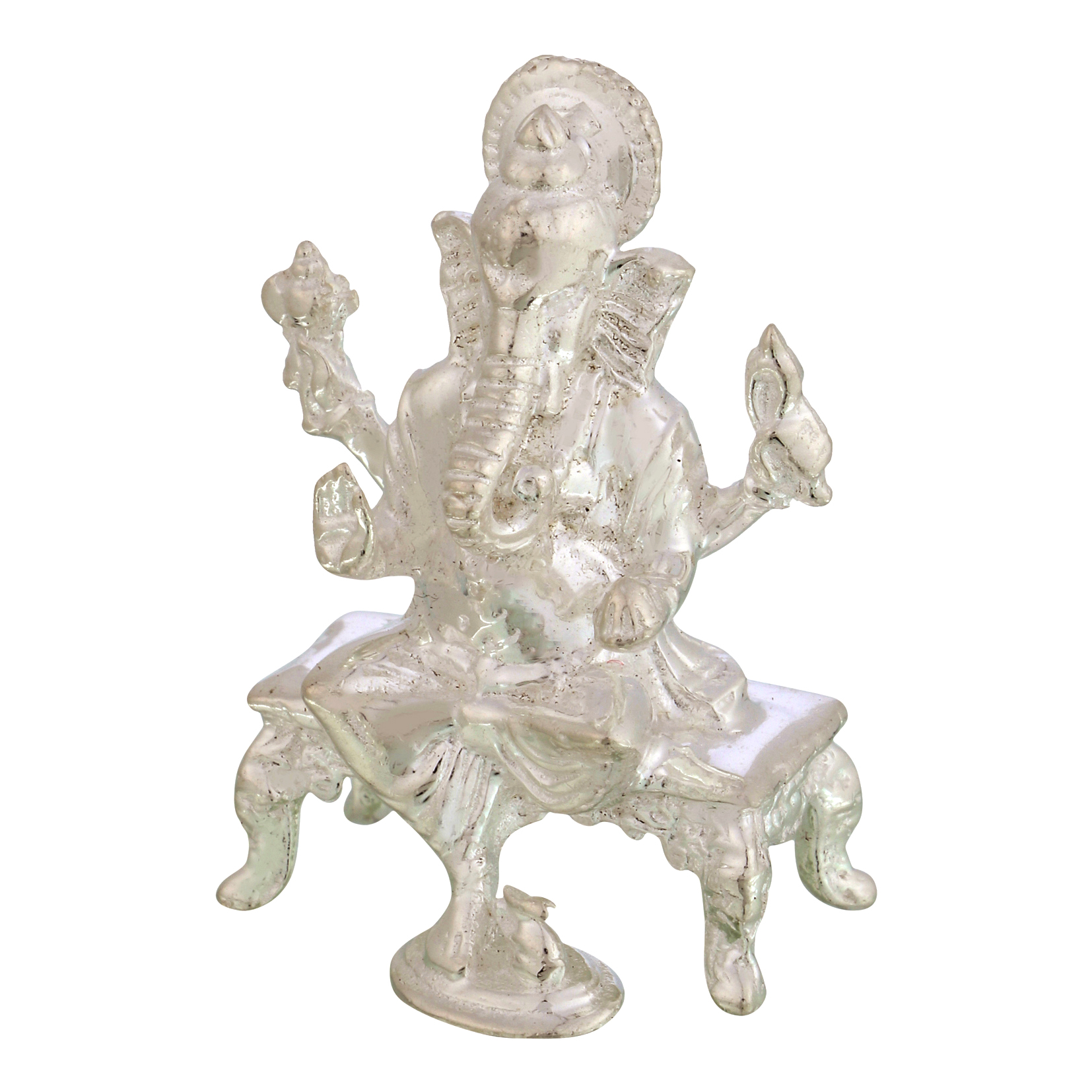 Ganesh ji in Silver by Osasbazaar Right