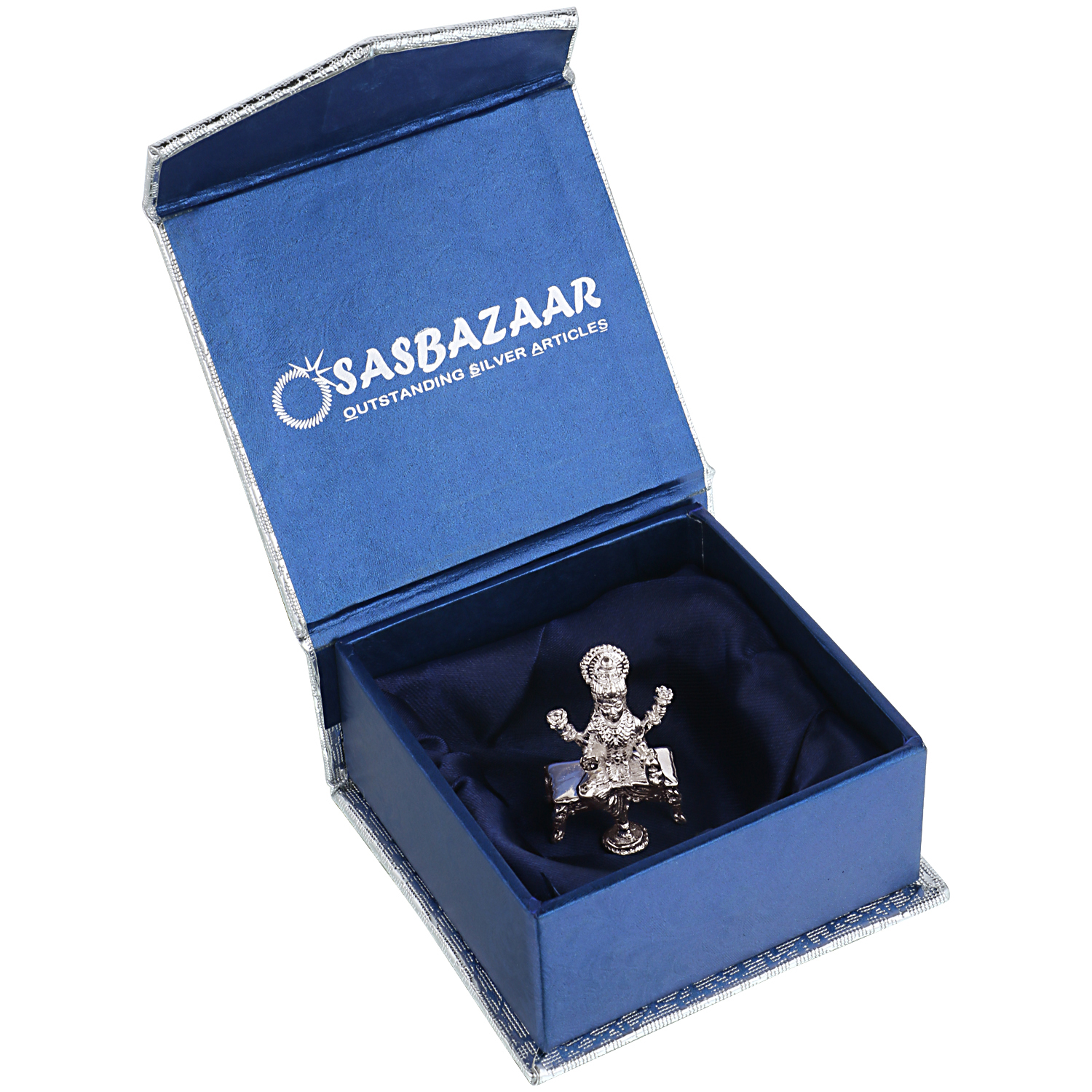 Laxmi ji in Silver by Osasbazaar Packaging