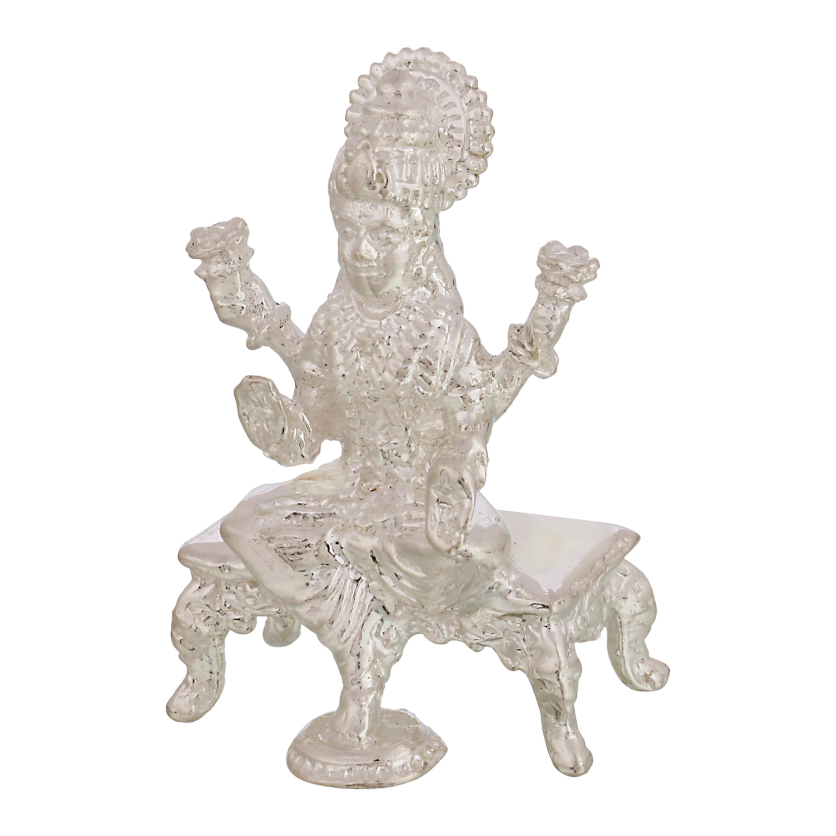 Laxmi ji in Silver by Osasbazaar Right