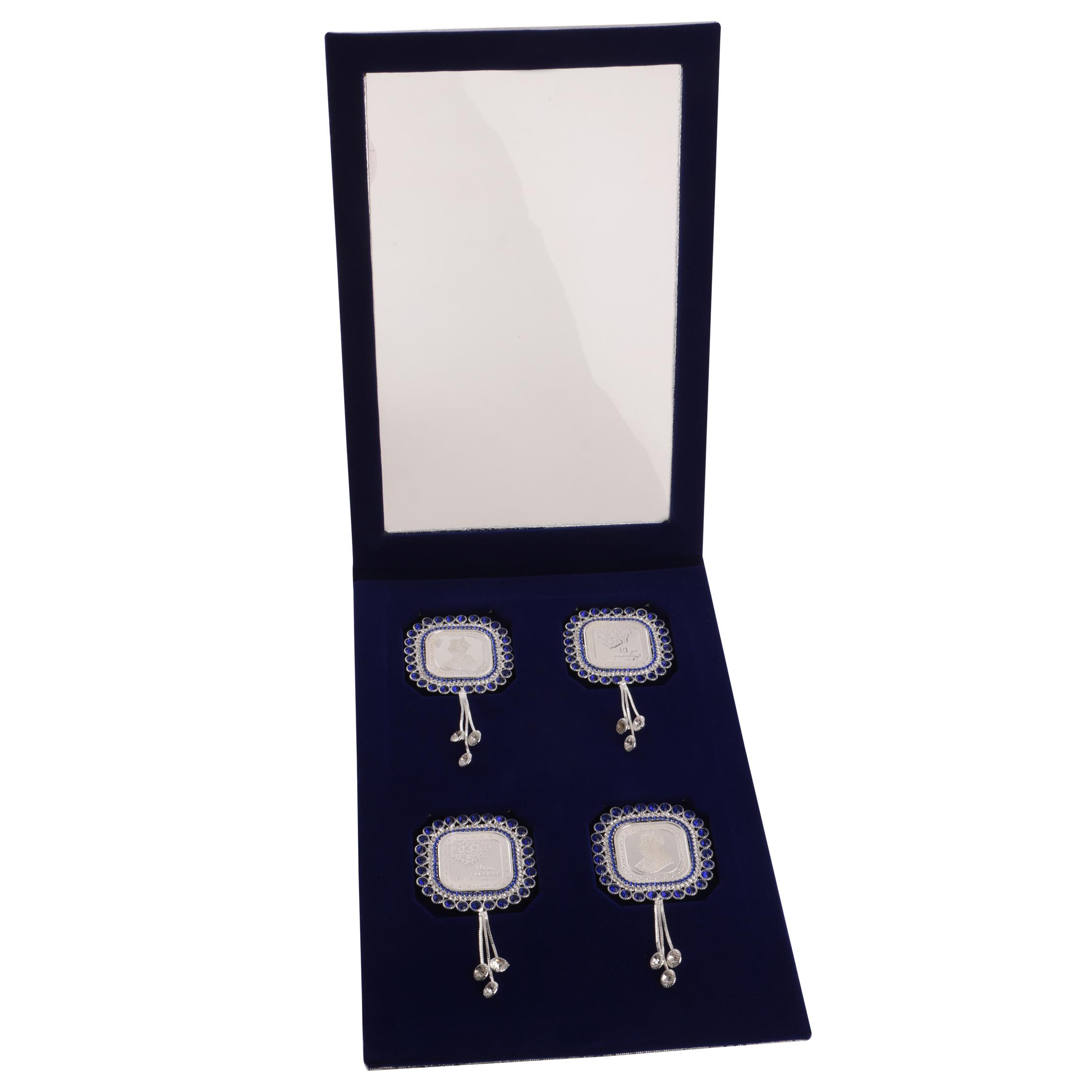 Silver Coin 10gm x4 in Blue Diamond Latkan Packing by Osasbazaar Open