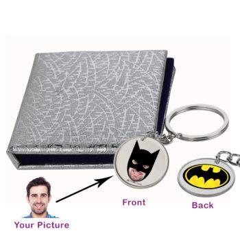 Batman and You Silver Keychain by Osasbazaar