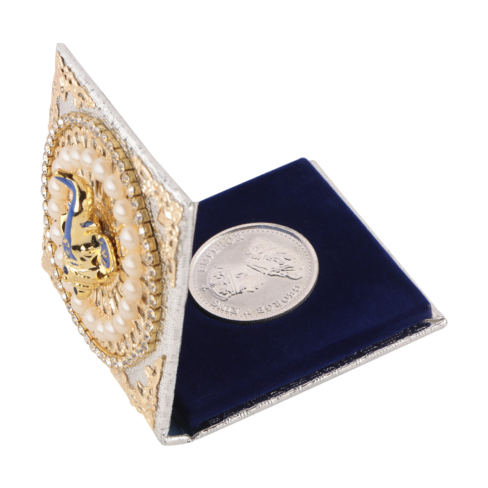 Silver Coin Round with Designer Ganesh ji Packing - Pack of