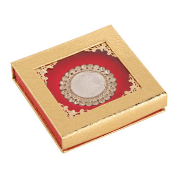 Silver Coin 10gm x1 in Red Golden Ring Packing by Osasbazaar Main