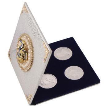 Silver Coin 10gm x4 in Ganesh ji Moti Packing by Osasbazaar Open