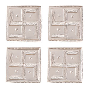 Swastik Saathiya in Silver by Osasbazaar Main Set of 4
